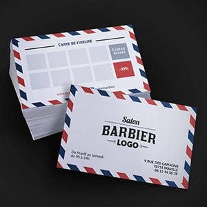 Carte de visite coiffeur barbier