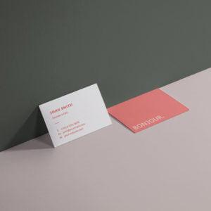 Carte de visite Red by WePrint (1)