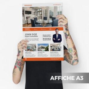 Affiche A3 Agence Immobilière WePrint