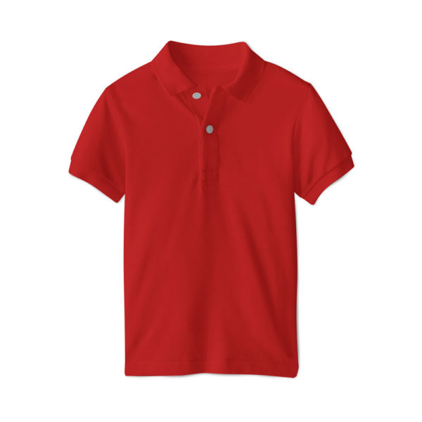 Polo brodé homme Rouge
