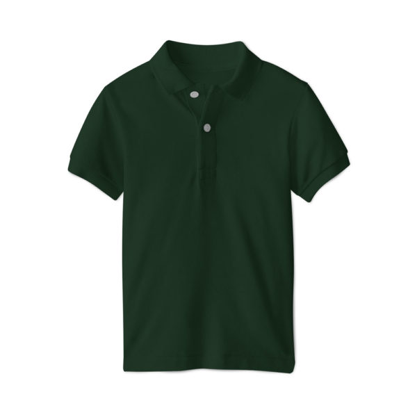 Polo brodé homme Vert Foncé